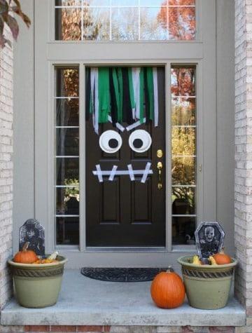 adornos para puertas de halloween diy