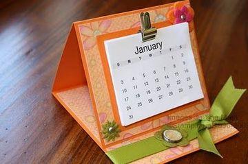 calendario hecho a mano para escritorio