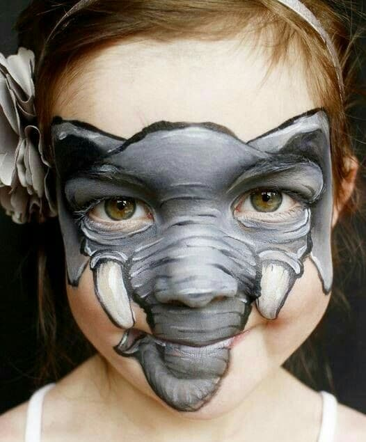 caras pintadas de animales para niños