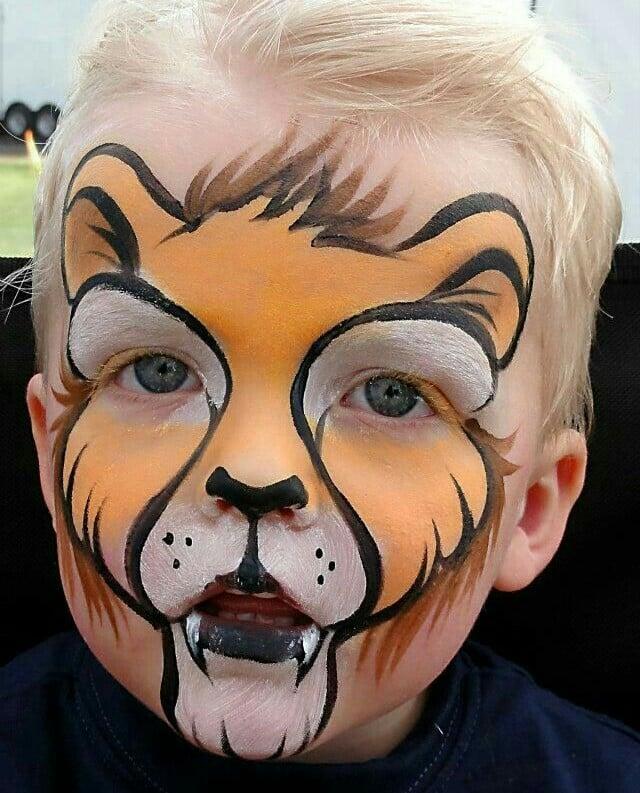 caras pintadas de animales salvajes