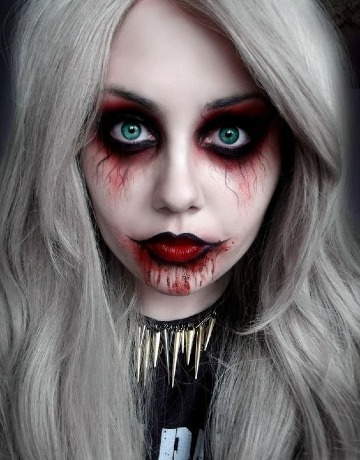 caras pintadas de halloween facil