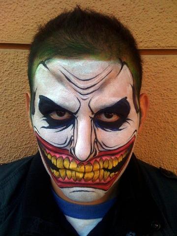 caras pintadas de halloween para hombres