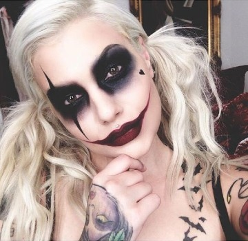 caras pintadas de halloween para mujer