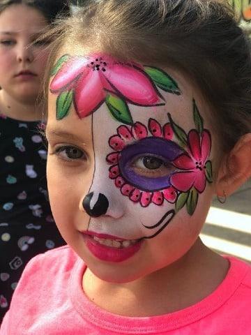 caras pintadas de halloween para niñas