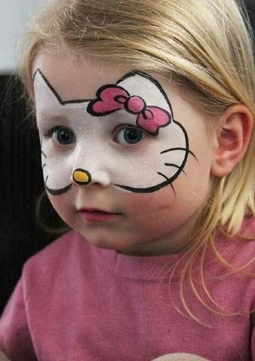 caritas pintadas de niñas faciles