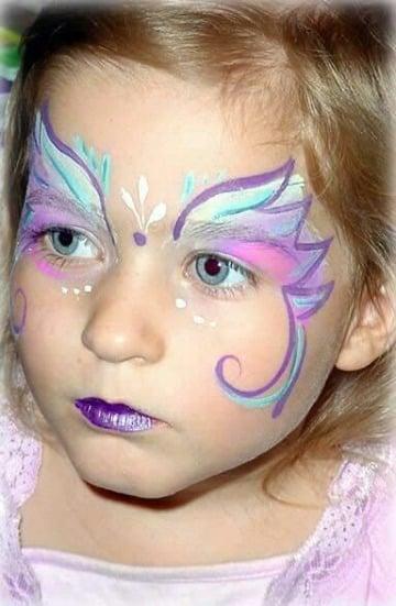 caritas pintadas de niñas sencillas