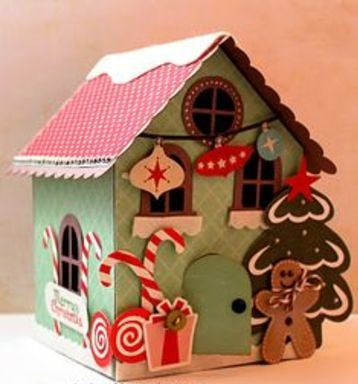 casitas navideñas de carton decoradas