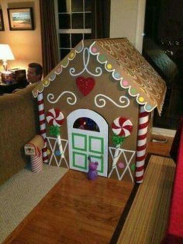 casitas navideñas de carton grandes
