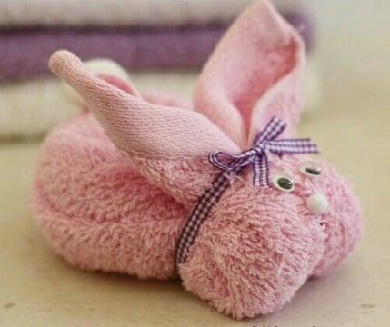 como hacer conejos con toallas de baño