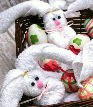 como hacer conejos con toallas para regalar