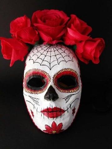 como hacer mascaras de calaveras mexicanas