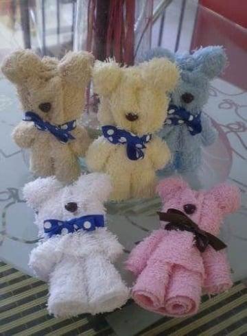 como hacer oso con toallas decoracion