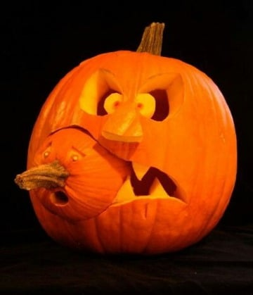 diy diseños de calabazas para halloween