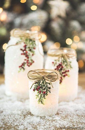 envases de vidrio decorados para navidad