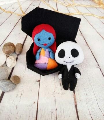 figuras de fieltro de halloween para adornar