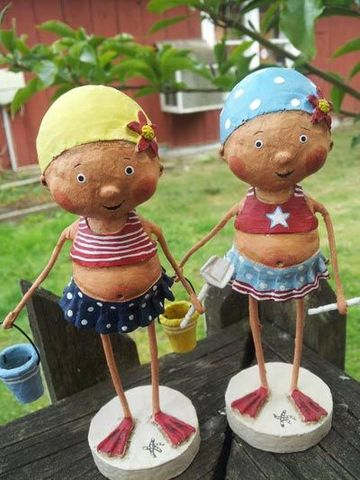 figuras de papel mache para decorar el hogar