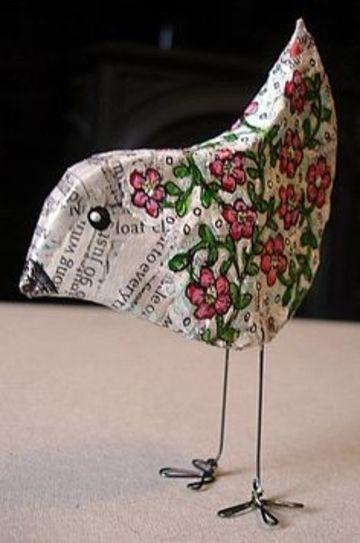 figuras de papel mache sencillo