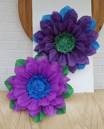 flores hechas de papel faciles