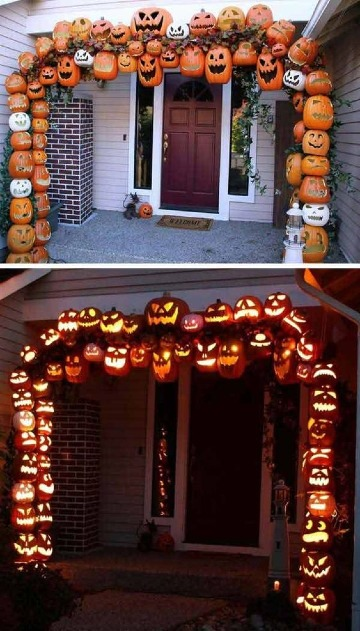imagenes de adornos para puertas de halloween