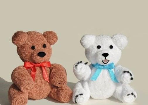 imagenes de como hacer oso con toallas