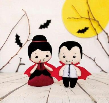 imagenes de figuras de fieltro de halloween
