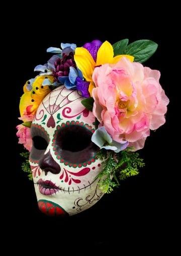 imagenes de mascaras de calaveras mexicanas