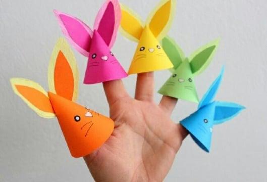 imagenes de titeres de papel de dedos