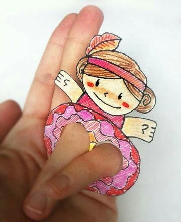 imagenes de titeres de papel faciles