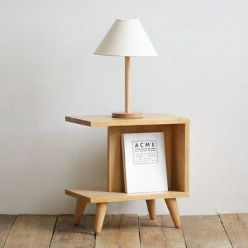 lamparas de madera para buro minimalista