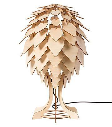 lamparas de madera para buro moderna