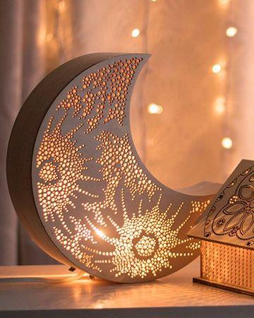 lamparas de madera para buro para navidad