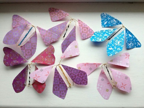 mariposas de papel que vuelan para bodas