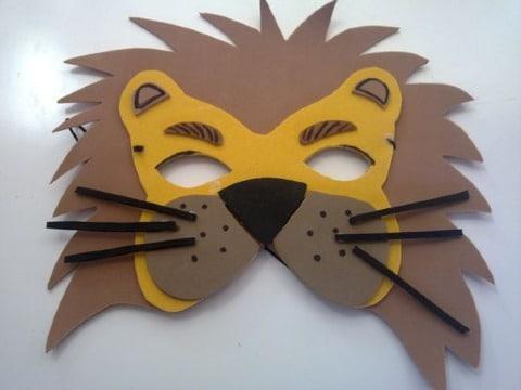 mascaras de animales en foami para niños