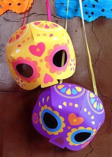 mascaras de dia de muertos para niños