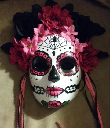 mascaras de dia de muertos pintadas