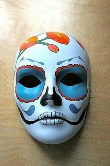 mascaras de yeso decoradas de catrinas