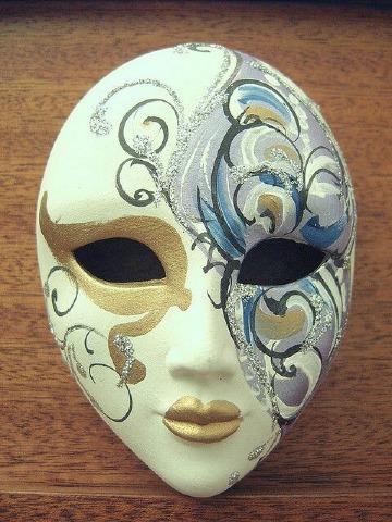 mascaras de yeso decoradas para mujer