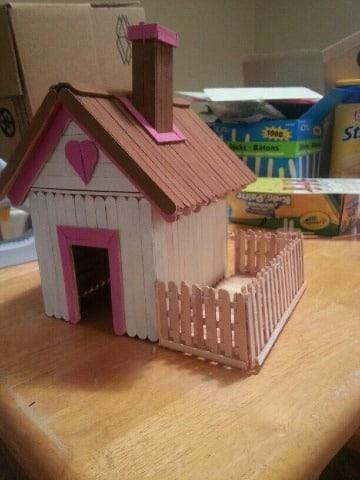 modelos de casitas de palitos de chupetes