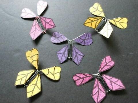 moldes para mariposas de papel que vuelan
