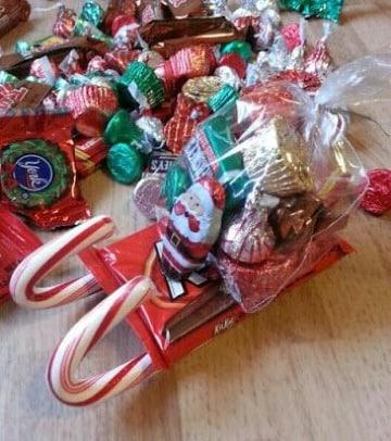 bolsitas de dulces navideñas sencillas