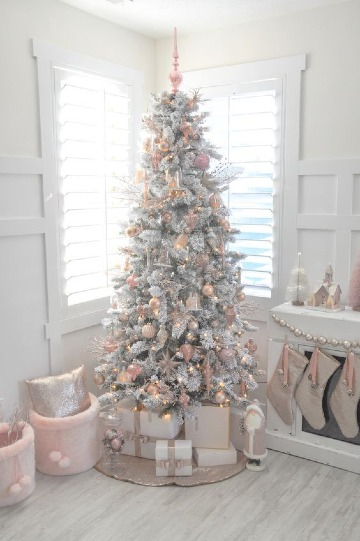 como decorar pinos de navidad artificiales