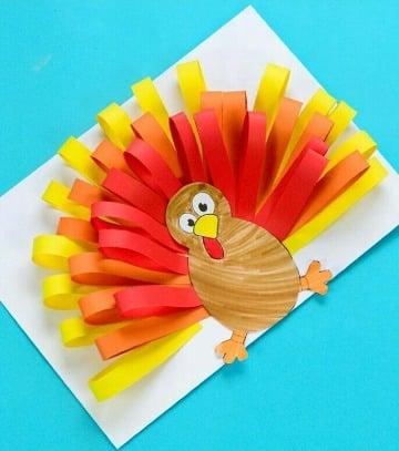 como decorar un pavo de papel para niños