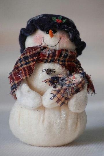 como hacer gorros para muñecos de nieve