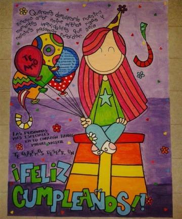 como hacer pancartas creativas para cumpleaños