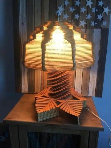 creativas lamparas con paletas de helado