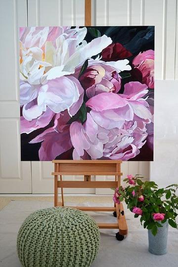 cuadros de flores grandes al oleo