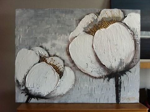cuadros de flores grandes en acrilico