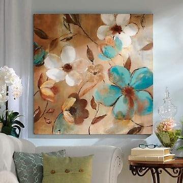 cuadros de flores grandes para sala