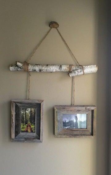 cuadros rusticos de madera para fotos