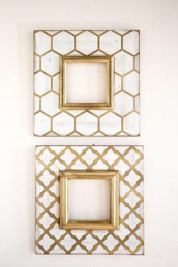 diseños de cuadros para fotos en madera
